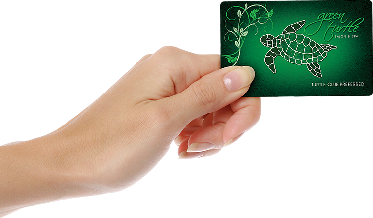 Green Turtle Salon Members Reward Card