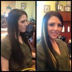 Hair extensions before and after - Green Turtle Salon Henderson NV