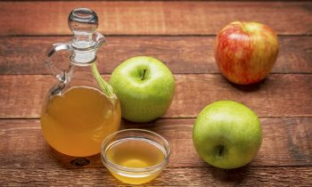 unfiltered, raw apple cider vinegar with mother - a cruet with a