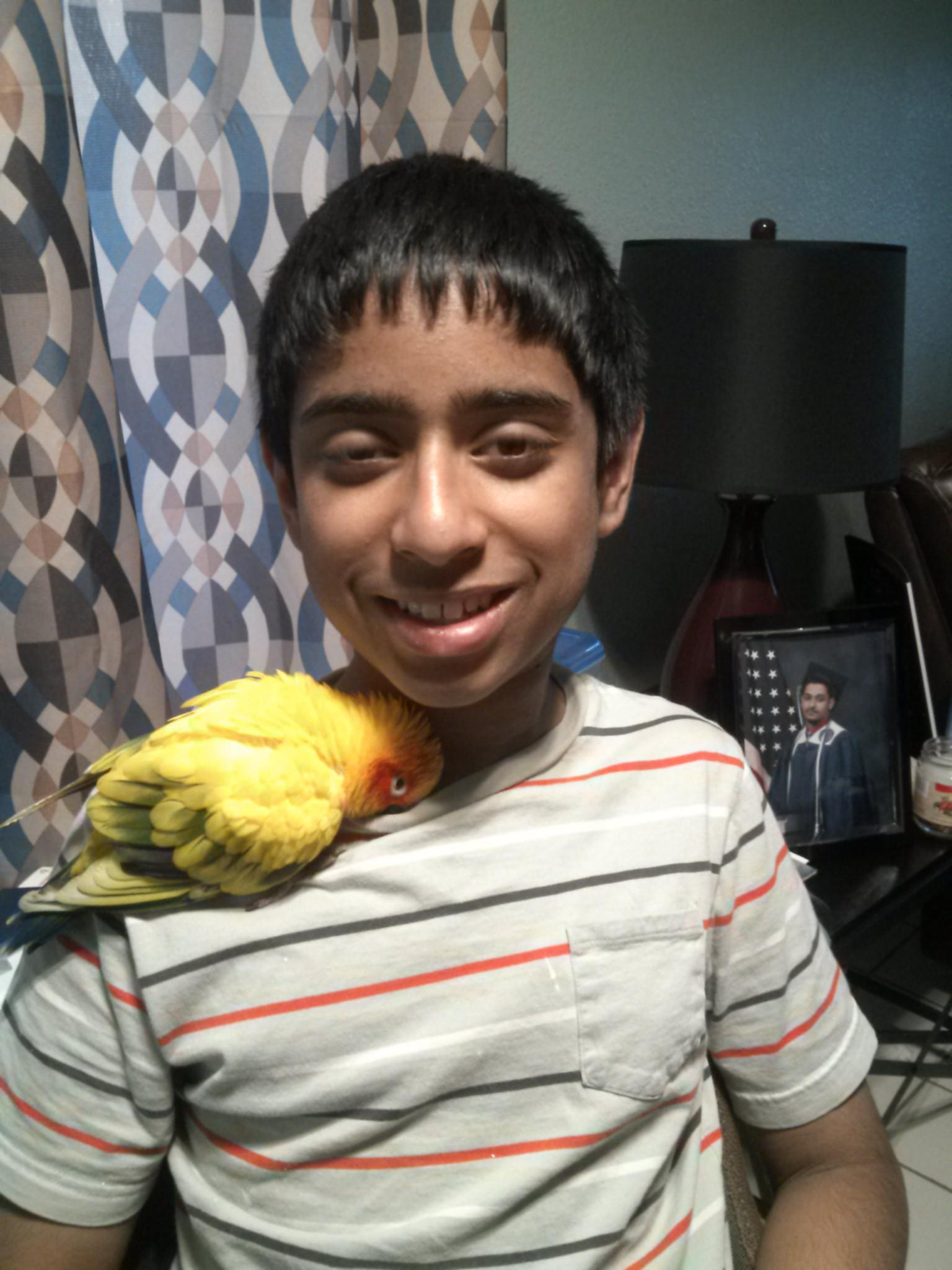 Ryan and his bird
