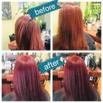Before and after image of a client at GT Salon